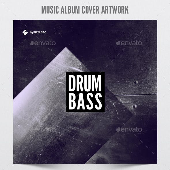 Drum and Bass 2 - Album Cover Artwork Template