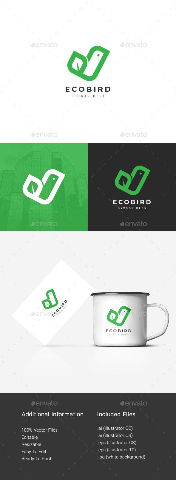 Eco Bird logo - Nature Logo Templates