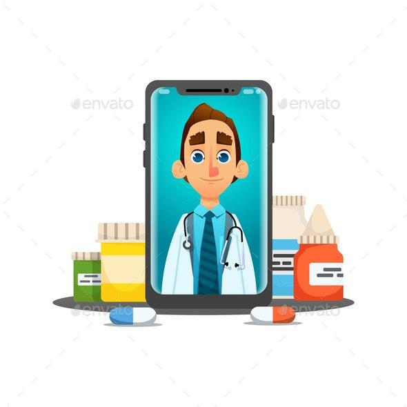 Online Doctor Consultation - Health/Medicine Conceptual