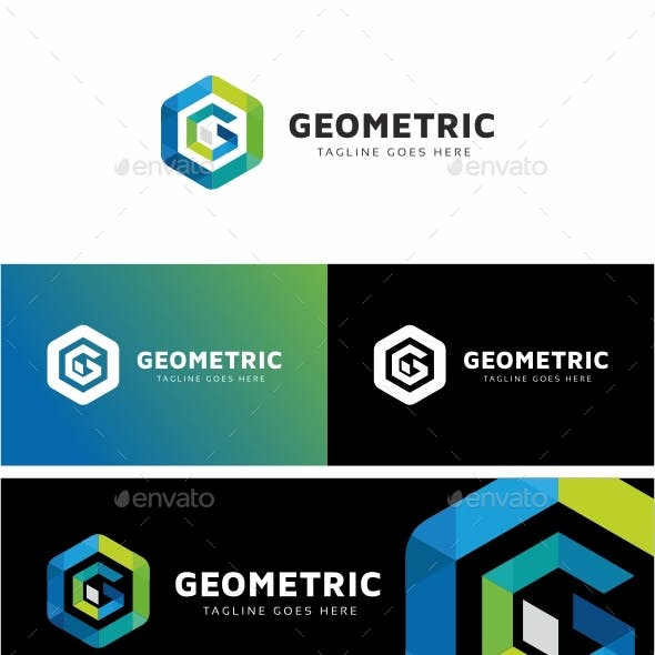 Geometric - G Letter Hexagon Tech Logo