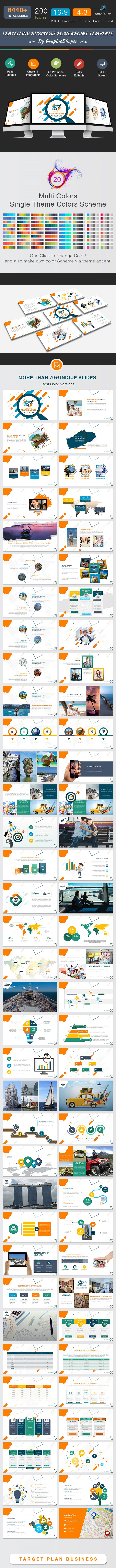 Travelling Business Powerpoint Template - Business PowerPoint Templates