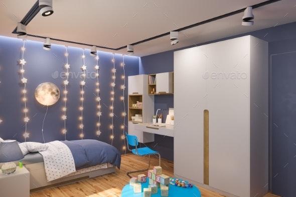 3d Render of the Children's Bedroom Interior - Architecture 3D Renders