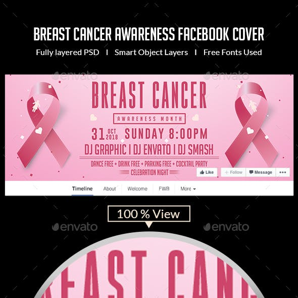 Breast Cancer Awareness Facebook Cover