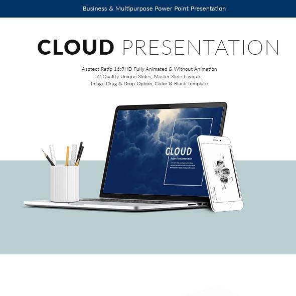 Cloud Power Point Presentation Template