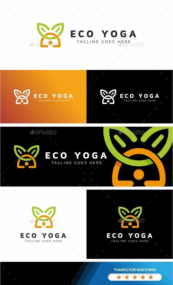 Eco Yoga Logo - Nature Logo Templates