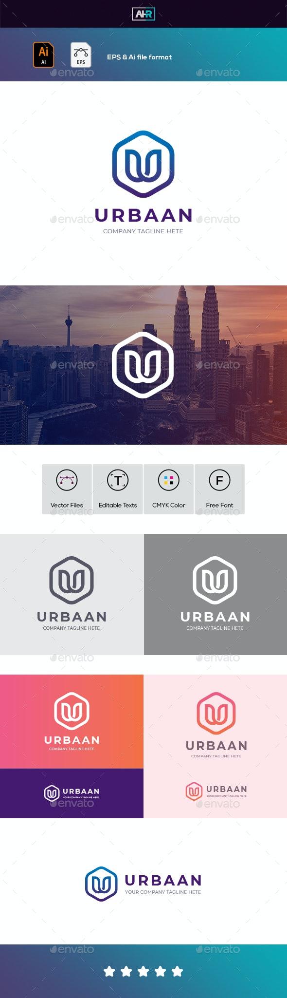 U Letter / Urbaan Logo - Letters Logo Templates