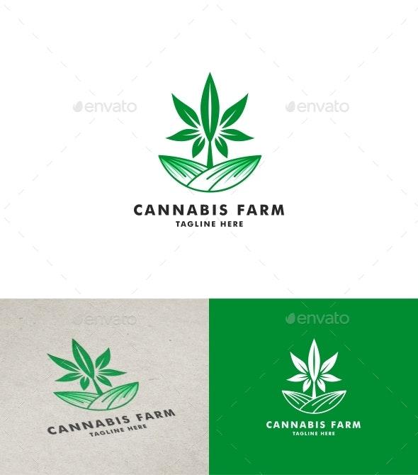 Cannabis Farm Logo - Nature Logo Templates