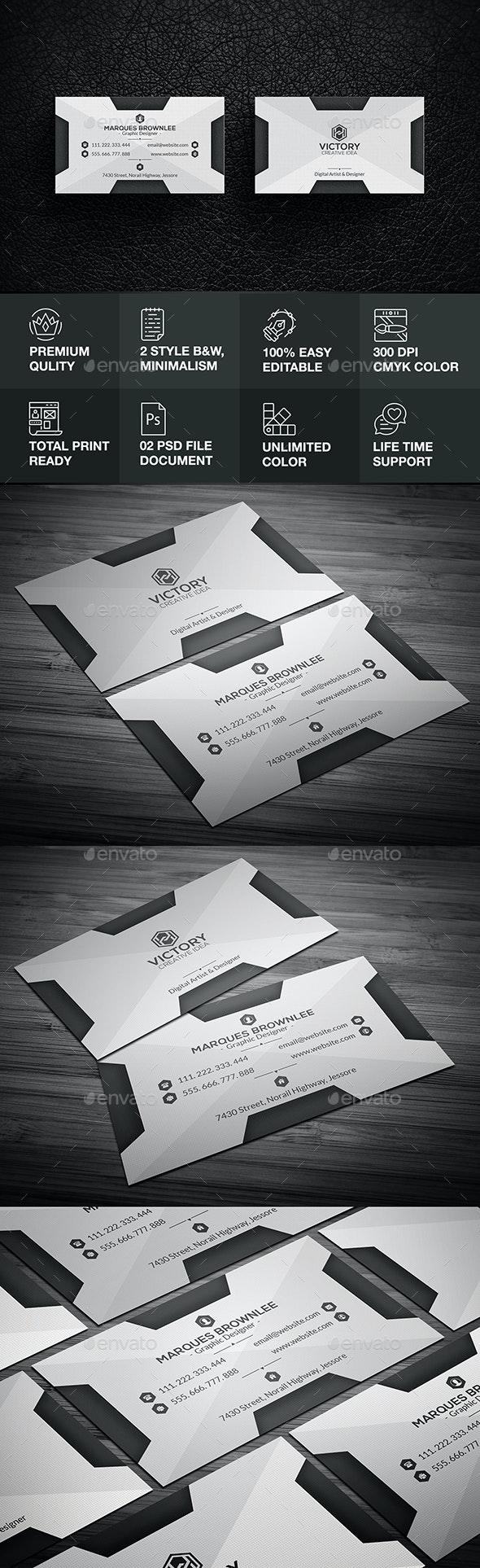 Minimalita Business Card - Corporate Business Cards