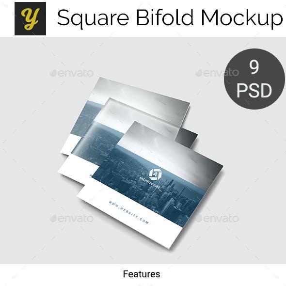 Square Bifold Mockup