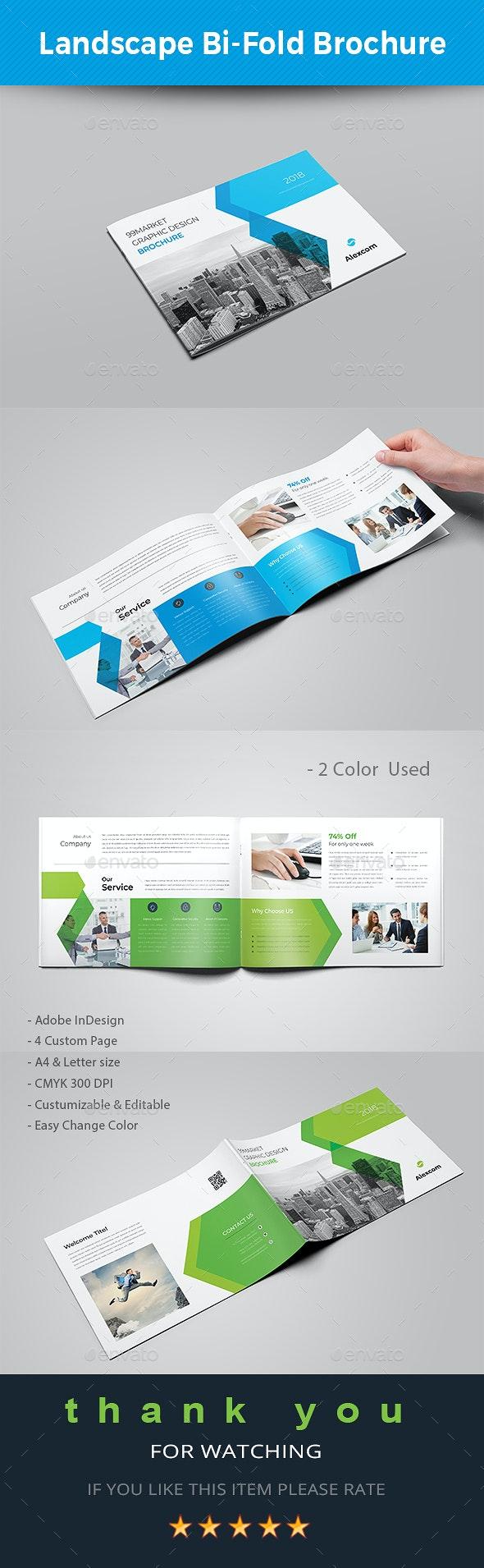 Landscape Bi-fold Brochure - Brochures Print Templates