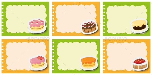 Label Design With Different Flavor Of Cakes - Miscellaneous Conceptual