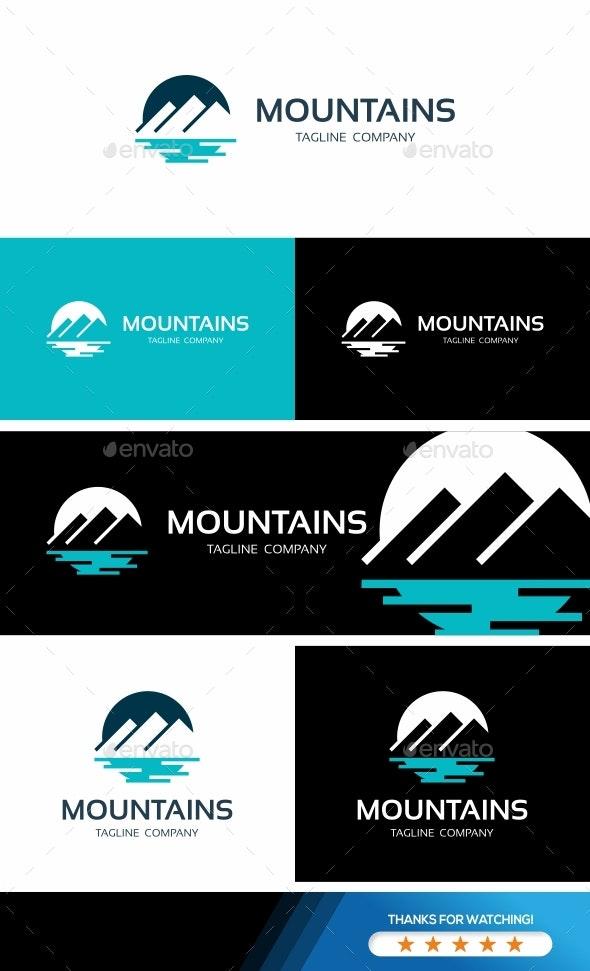 Mountains Logo Template - Nature Logo Templates