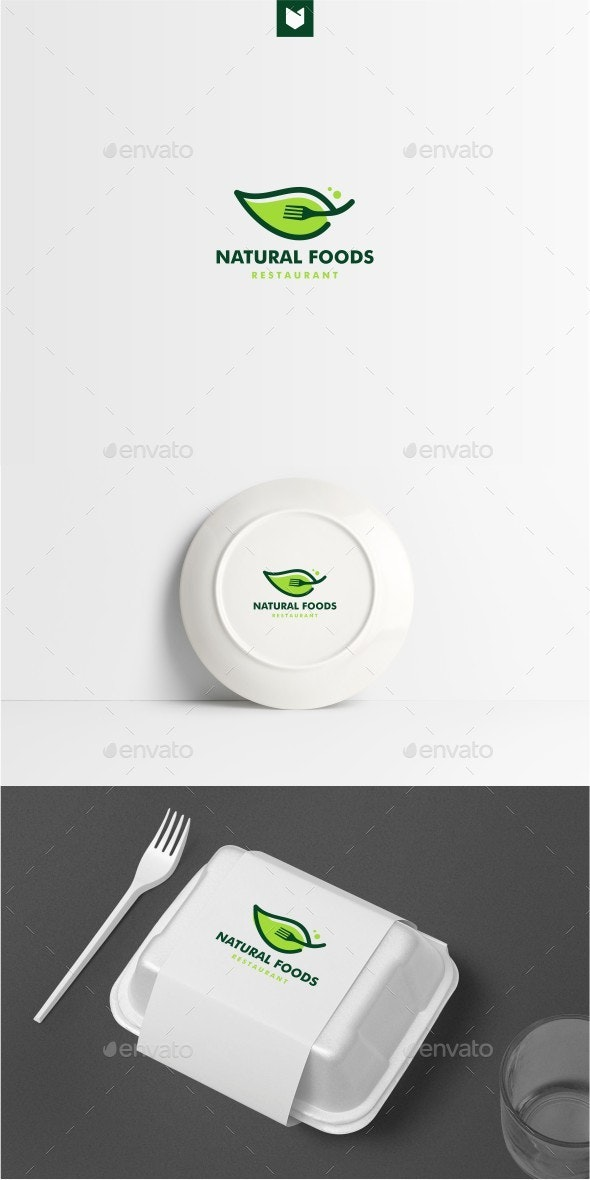 Leaf Fork Logo - Food Logo Templates