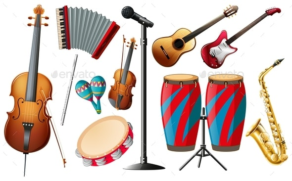 Different Types of Classical Instruments - Man-made Objects Objects