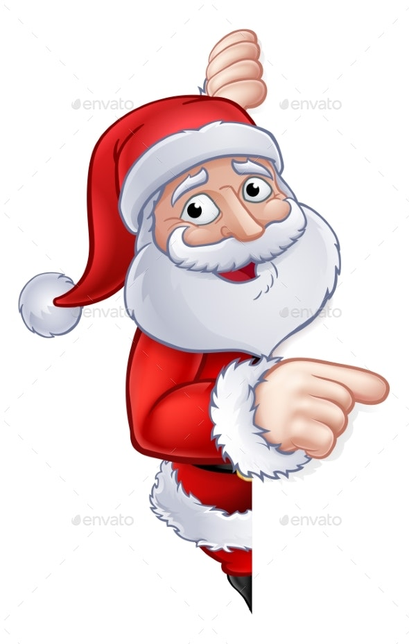 Santa Claus Christmas Cartoon Character - Christmas Seasons/Holidays