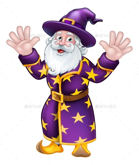 Wizard Cartoon Character Mascot - Miscellaneous Characters