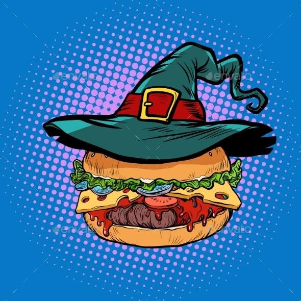 Halloween Burger Fast Food Holiday - Food Objects