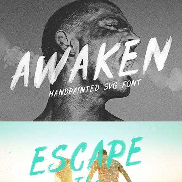 Awaken SVG Font