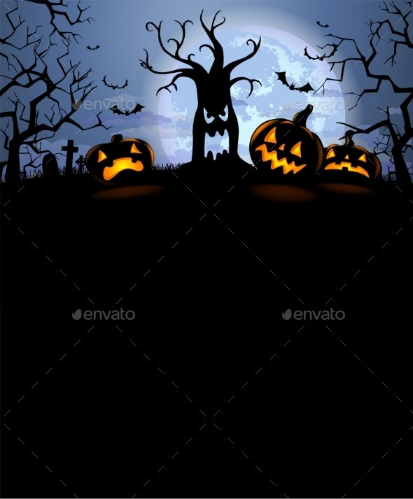 Halloween Silhouette Background - Halloween Seasons/Holidays