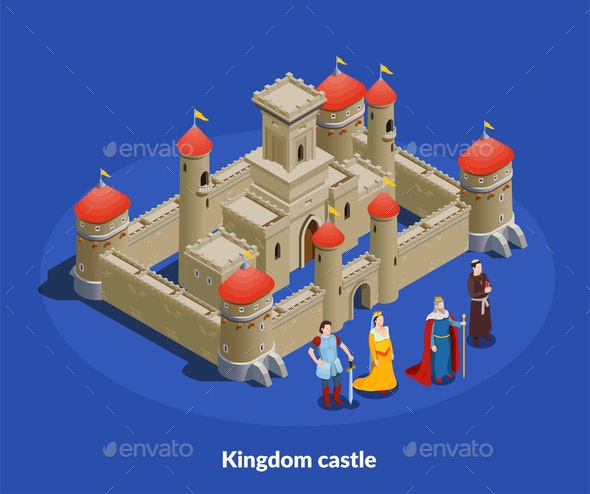 Medieval Castle Isometric Cimposition - Buildings Objects
