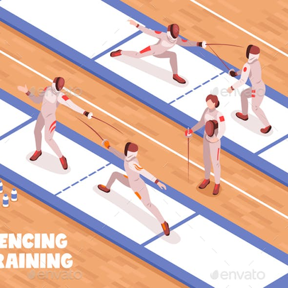 Fencing Saloon Training Background