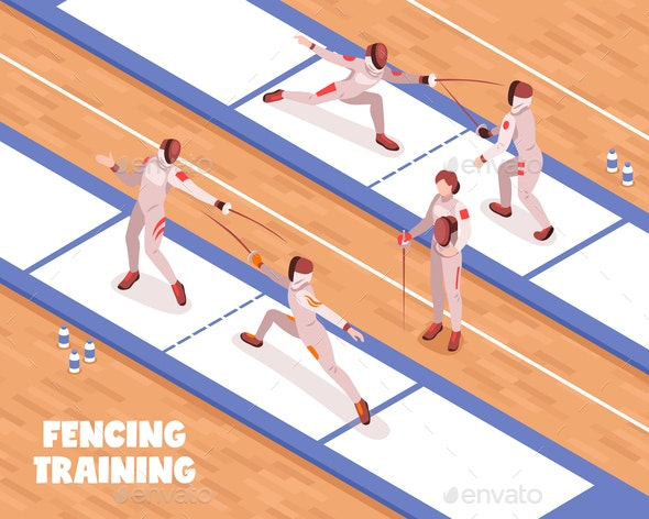 Fencing Saloon Training Background - Sports/Activity Conceptual