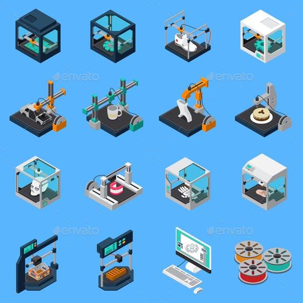 Printing Industry Icon Set