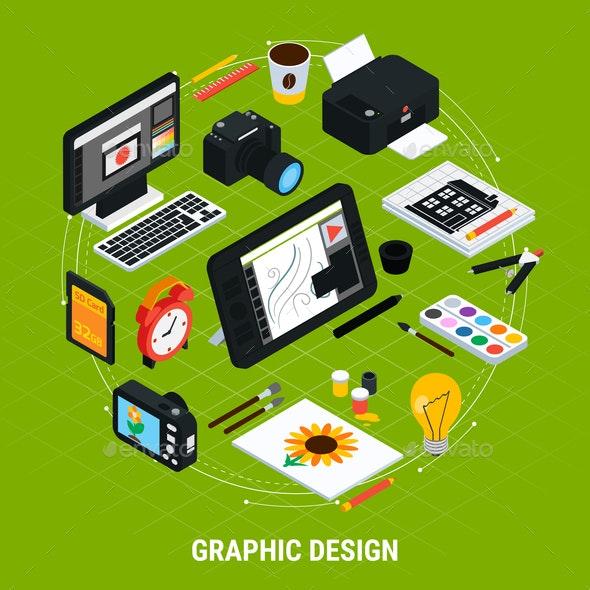 Graphic Design Illustration - Computers Technology