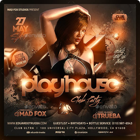 Playhouse Club Party Flyer