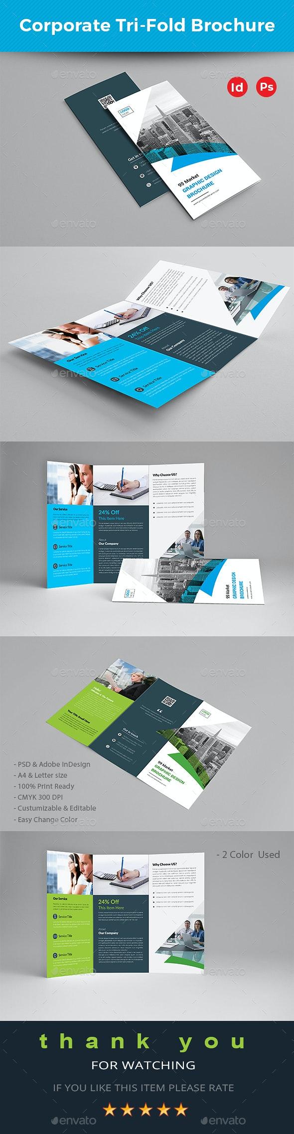 Corporate Trifold Brochure - Brochures Print Templates