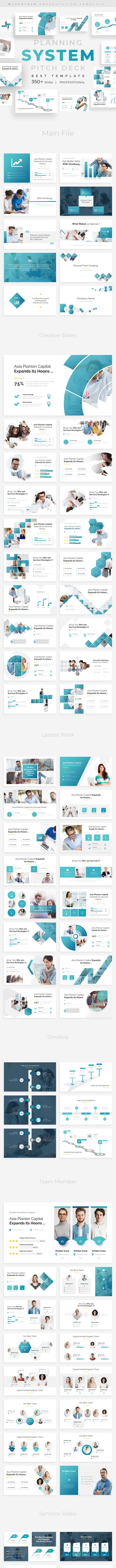 Planning System Pitch Deck Powerpoint Template - Business PowerPoint Templates