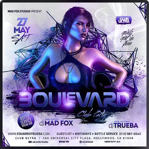 Boulevard Club Party Flyer