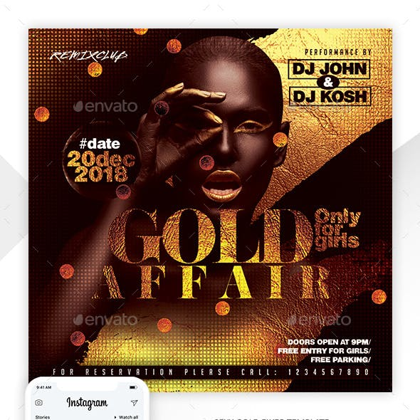 Gold Affair Party Flyer