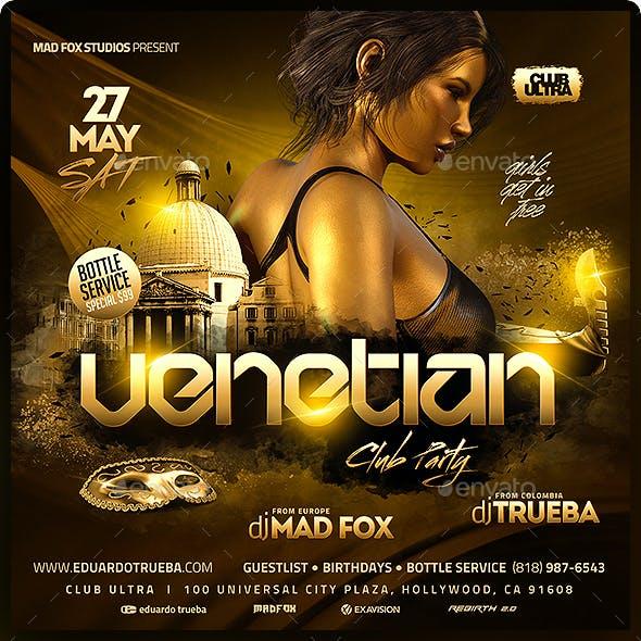 Venetian Club Party Flyer
