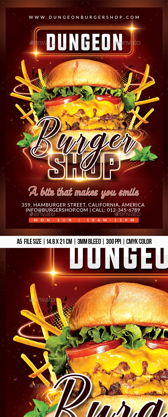 Burger Shop - Restaurant Flyers