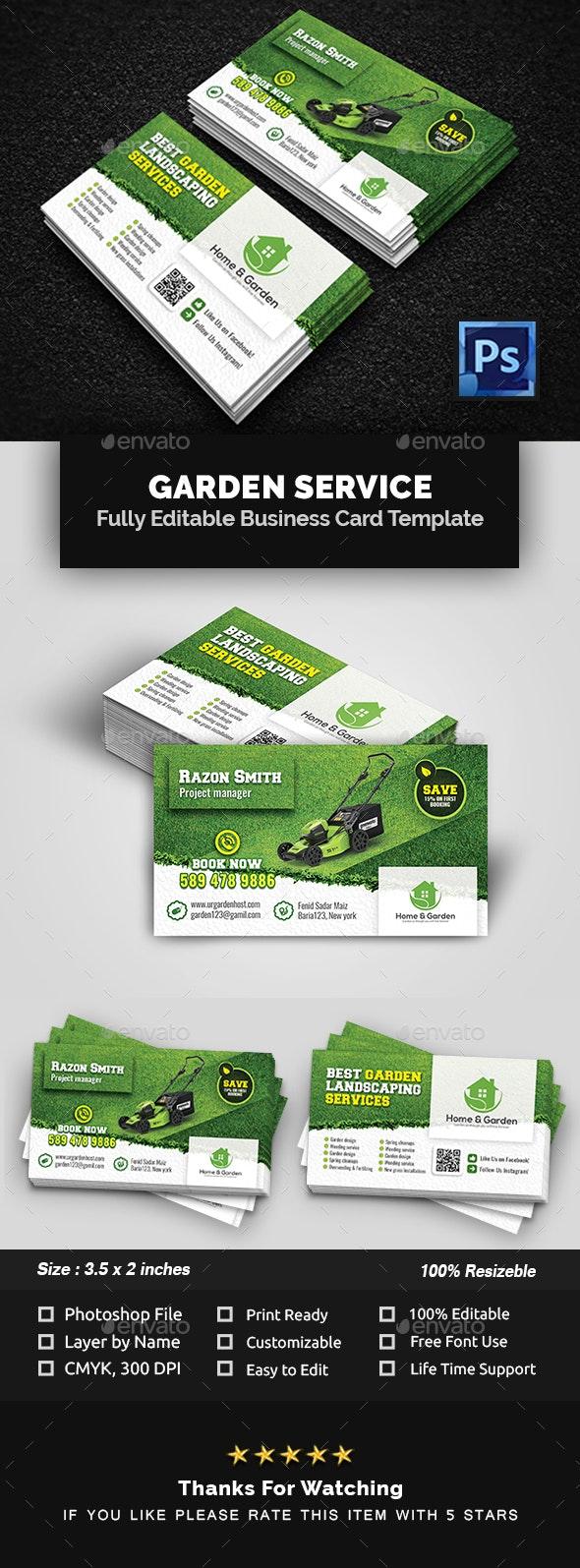 Garden Landscape Business Card Template - Business Cards Print Templates