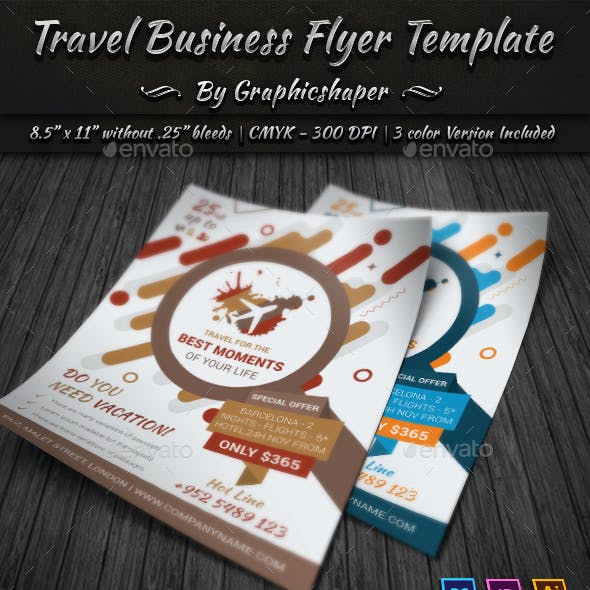 Travel Business Flyer Template