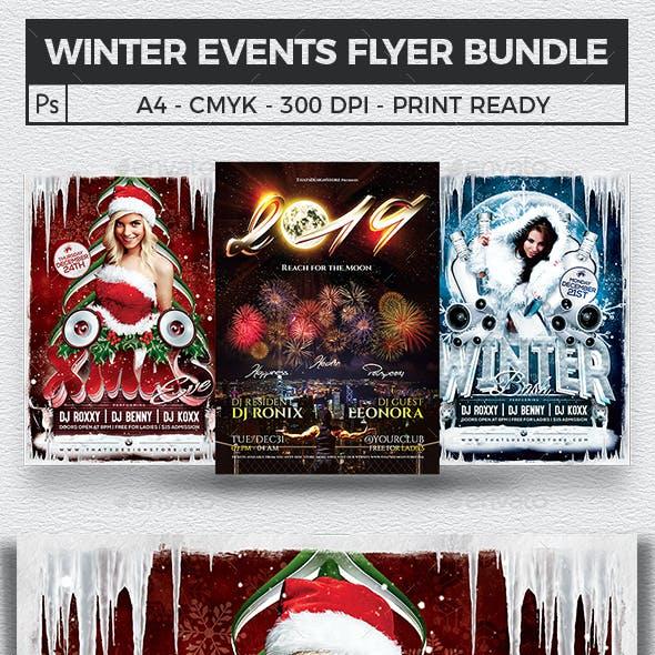 Winter Events Flyer Bundle V1