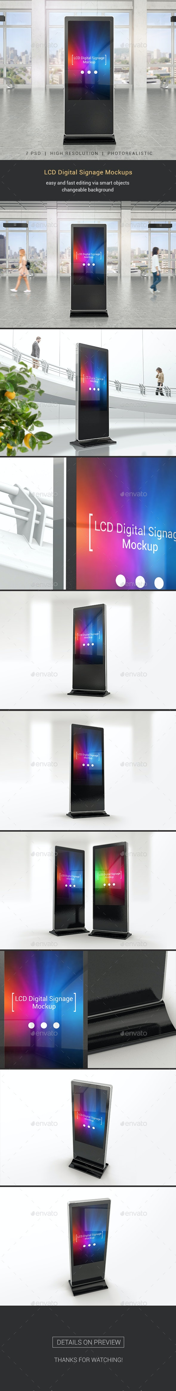 LCD Digital Signage Mockups - Miscellaneous Print
