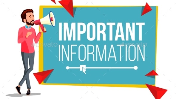 Important Information Banner Vector. Businessman - Business Conceptual