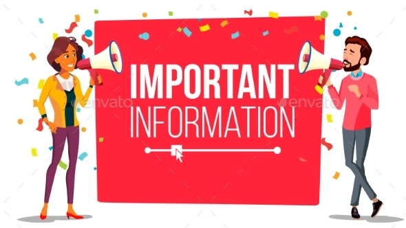 Important Information Attention Banner Vector - Business Conceptual