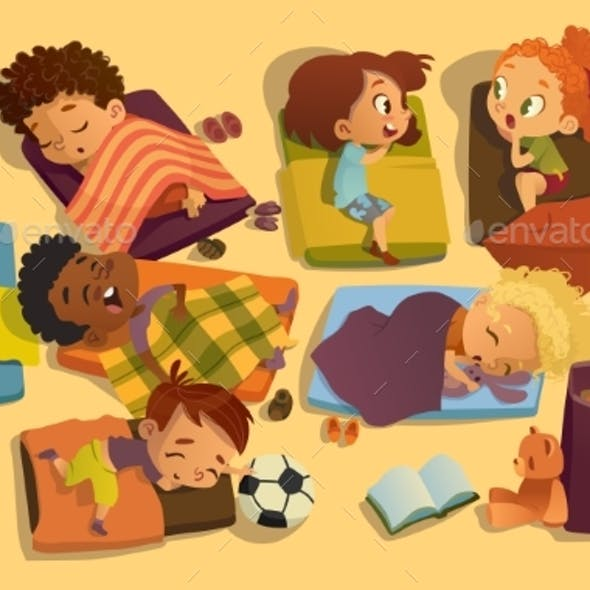 Nap Time in Kindergarten
