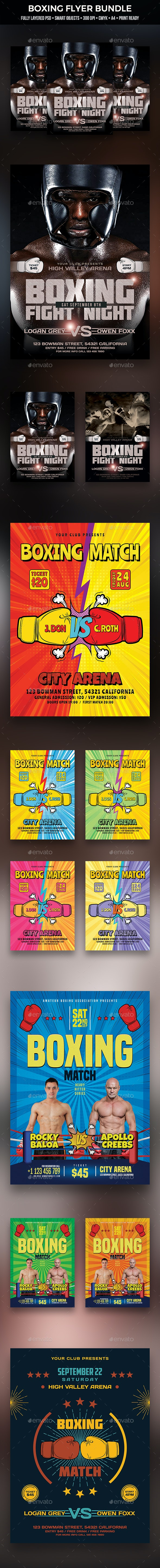 Boxing Flyer Bundle - Sports Events