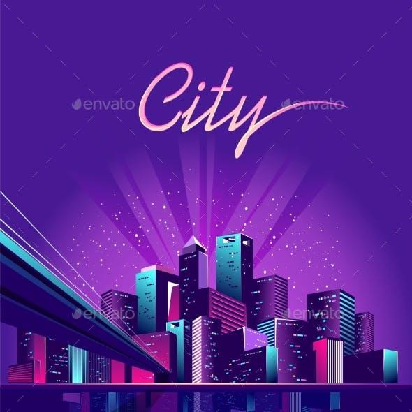 Neon City Bridge