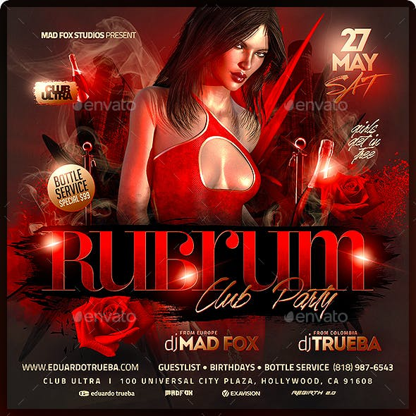 Rubrum Club Party Flyer