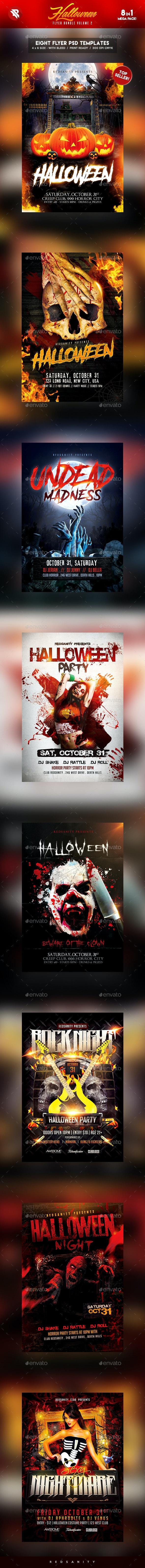 Halloween Flyer Bundle Vol.2 - Holidays Events