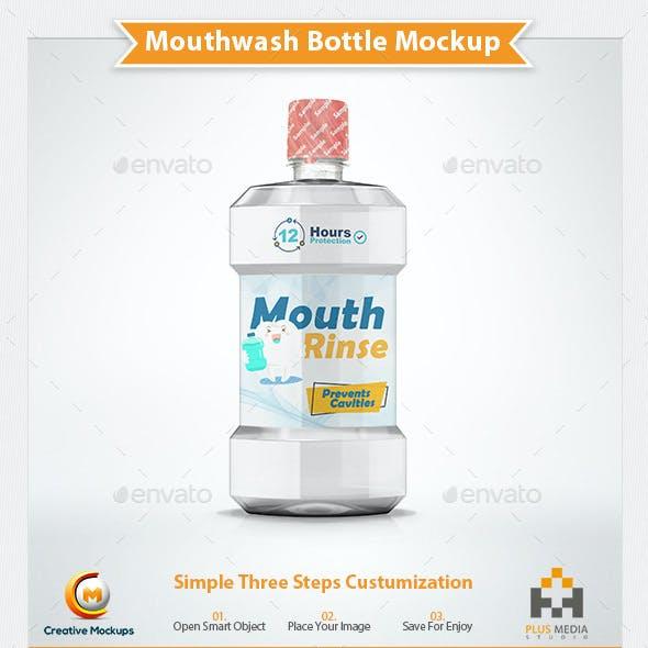 Mouthwash Bottle Mockup