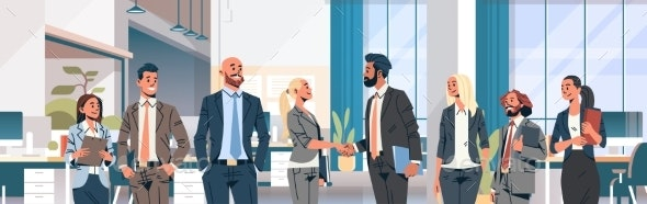 Business People Group Hand Shake Agreement - Concepts Business