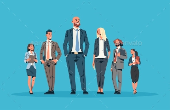 Business People Team Leader Leadership Concept - People Characters