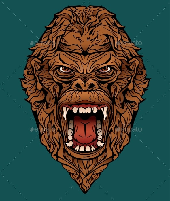 Image of an Angry Gorilla - Animals Characters
